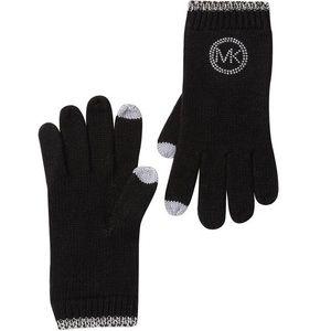 Michael Kors Knit Black Tech Gloves